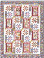 Village Flowers Fabric Carolyn Gavin